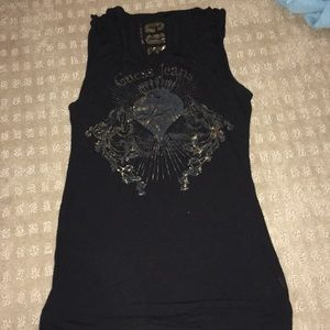 Black, Guess Jeans muscle tee